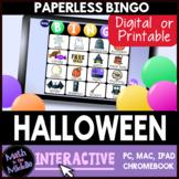 Halloween Interactive Digital Bingo Game - Distance Learning