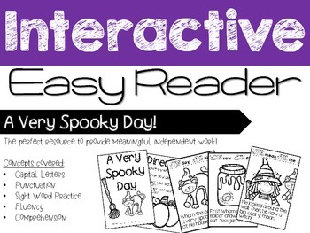 Halloween Interactive Easy Reader