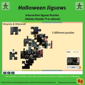 Halloween Interactive Jigsaw Set Grade 1-5
