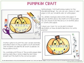 Halloween Interactive Vocabulary Activities