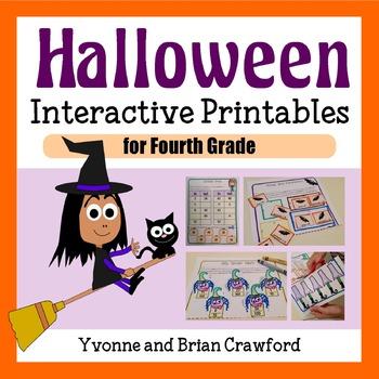 Halloween Math Interactive Printables Fourth Grade Common Core