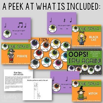 "Halloween Interactive Music Game- ""Eye Spy - Rhythm Game"" half note"