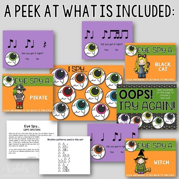 "Halloween Interactive Music Game- ""Eye Spy - Rhythm Game"" syncopa"