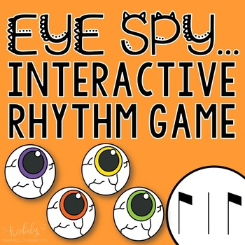 "Halloween Interactive Music Game- ""Eye Spy - Rhythm Game"" syncopa"
