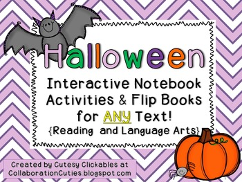 Halloween Interactive Notebook Activities & Flip Books for ANY TEXT