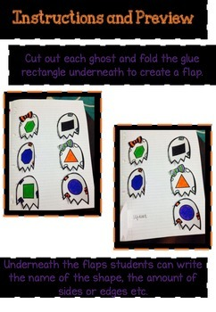 Halloween Interactive Notebook Freebie 2D and 3D Shapes