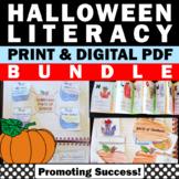 Halloween Literacy Centers BUNDLE Interactive Notebooks Vo