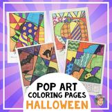 Halloween Activities: Interactive Coloring Sheets - Bats, Spiders, Ghosts & more