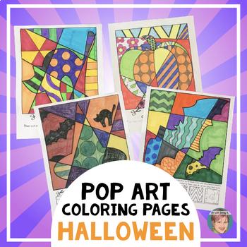 Halloween Interactive Coloring Sheets + Writing Prompts (pumpkins, bats, more!)