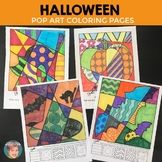 Halloween Interactive Coloring Sheets + Writing Prompts (p