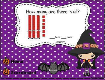Halloween Interactive Powerpoint Math Game- Second Grade Edition