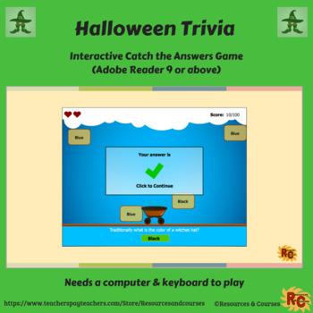 Halloween Interactive Trivia Quiz Grade 1-5
