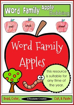 Interactive Word Family Apple Bobbing Activity