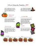 Halloween Interpreting Remainders Worksheet