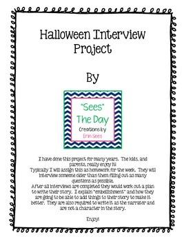Halloween Interview Writing Assignment