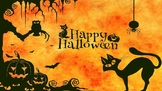 Halloween Intro Reading Lesson PowerPoint and Activities
