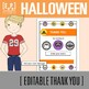 Halloween Invitation and Thank You Note