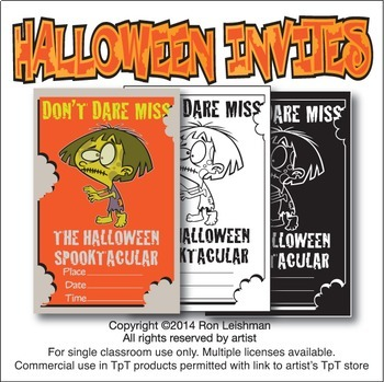 Halloween Invitations Cartoon Clipart