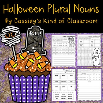 Halloween Irregular Plural Nouns