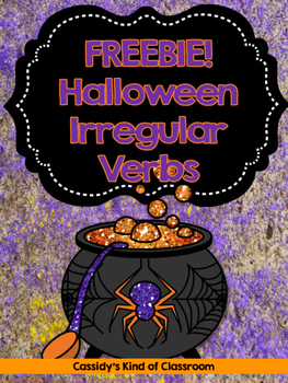 Halloween Irregular Verbs FREEBIE