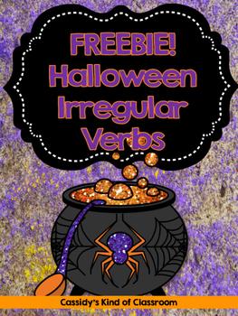 Halloween Irregular Verbs FREEBIE