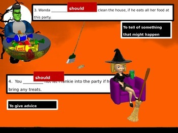 Halloween Irregular and Modal Verbs
