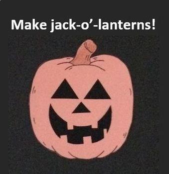 Halloween Craft Activities JACK-O'-LANTERNS with HATS