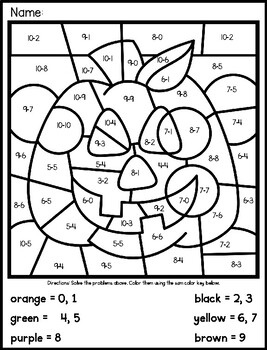 Halloween Jack-O-Lantern Addition Mystery Picture