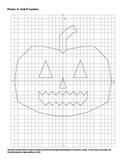 Halloween Jack-O-Lantern Coordinate Plane Connect the Dots Worksheet