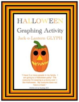 Halloween Jack-O-Lantern Glyph (Common Core Aligned)