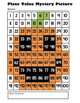 Halloween Jack O' Lantern Place Value Math Mystery Picture - 8.5x11 - October