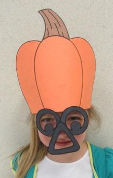 Halloween Jack-O-Lantern or Thanksgiving Pumpkin Hat Mask
