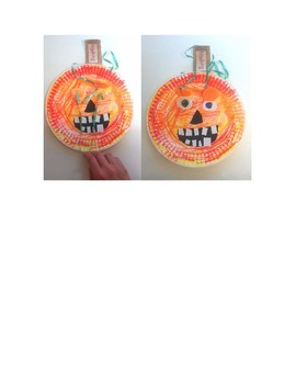 Halloween Jack-O-Lantern puppet