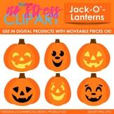 Halloween Jack-O-Lanterns Clip Art (Digital Use Ok!)