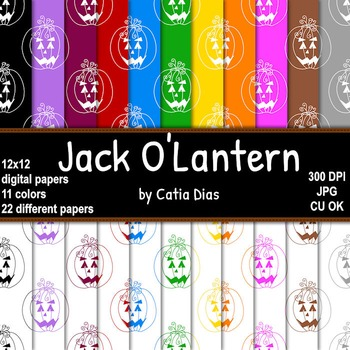 Halloween - Jack O'Lantern - 22 Digital Papers