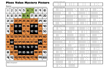 Halloween Jack O'Lantern Place Value Math Mystery Picture - 11x17 - October