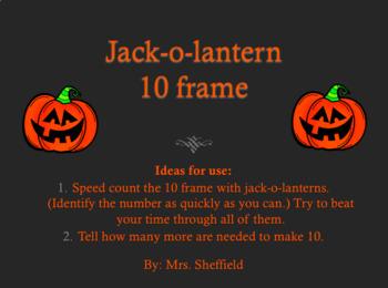 Halloween Jack-o-Lantern 10 frame