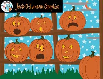 Halloween Jack-o-Lantern Graphics