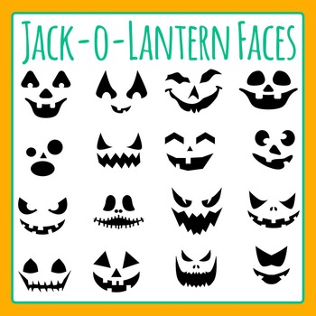 Halloween Jack o Lantern /Jack-O-Lantern Faces Clip Art for Commercial Use