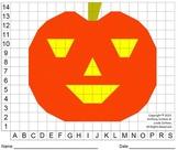 Jack-o'-Lantern Mystery Picture (Pumpkin, Color Grid)