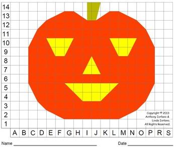 Halloween, Jack-o'-Lantern, Pumpkin, Color Grid