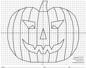 halloween jack o 39 lantern pumpkin scary coordinate graphing drawing. Black Bedroom Furniture Sets. Home Design Ideas