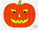 Halloween, Jack-o'-Lantern, Pumpkin, Scary, Coordinate Graphing & Drawing