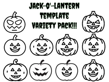 photograph about Printable Jack O Lanterns identified as Jack O Lantern Template Worksheets Training Supplies TpT