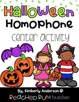 Halloween: Bat and Jack-o-Lantern Homophones Match