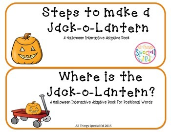 Halloween Pumpkin set of 2 Interactive Adapted books