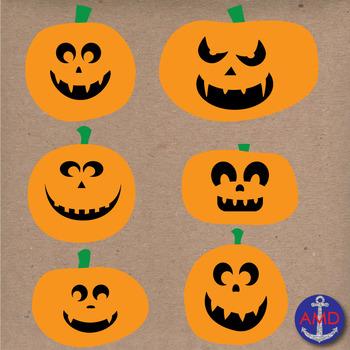 Halloween Jack-o-lantern (Pumpkin) Clip Art