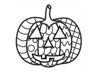 Halloween Jack O Lantern Zentangle No Prep Coloring Page Tpt