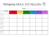 Halloween Jenga Vocabulary