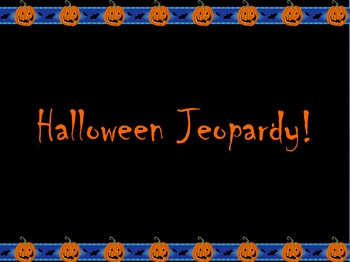 Halloween Jeopardy Game